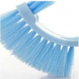 Toilet-Brush-Long-Handle-Scrub-Cleaning-Bathroom-Plastic-Bowl-Double-Tool-Side