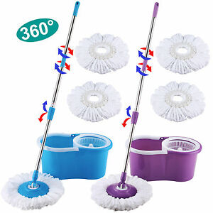 Microfiber Spinning Magic Spin Easy Floor Mop With Bucket