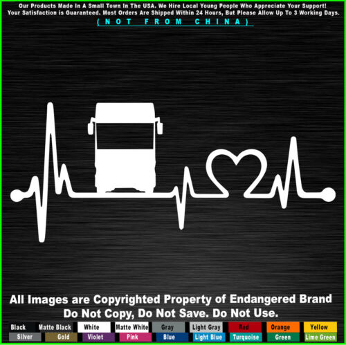 rv class a heartbeat Camping Travel Car Fits Jeep Truck Sticker Decal