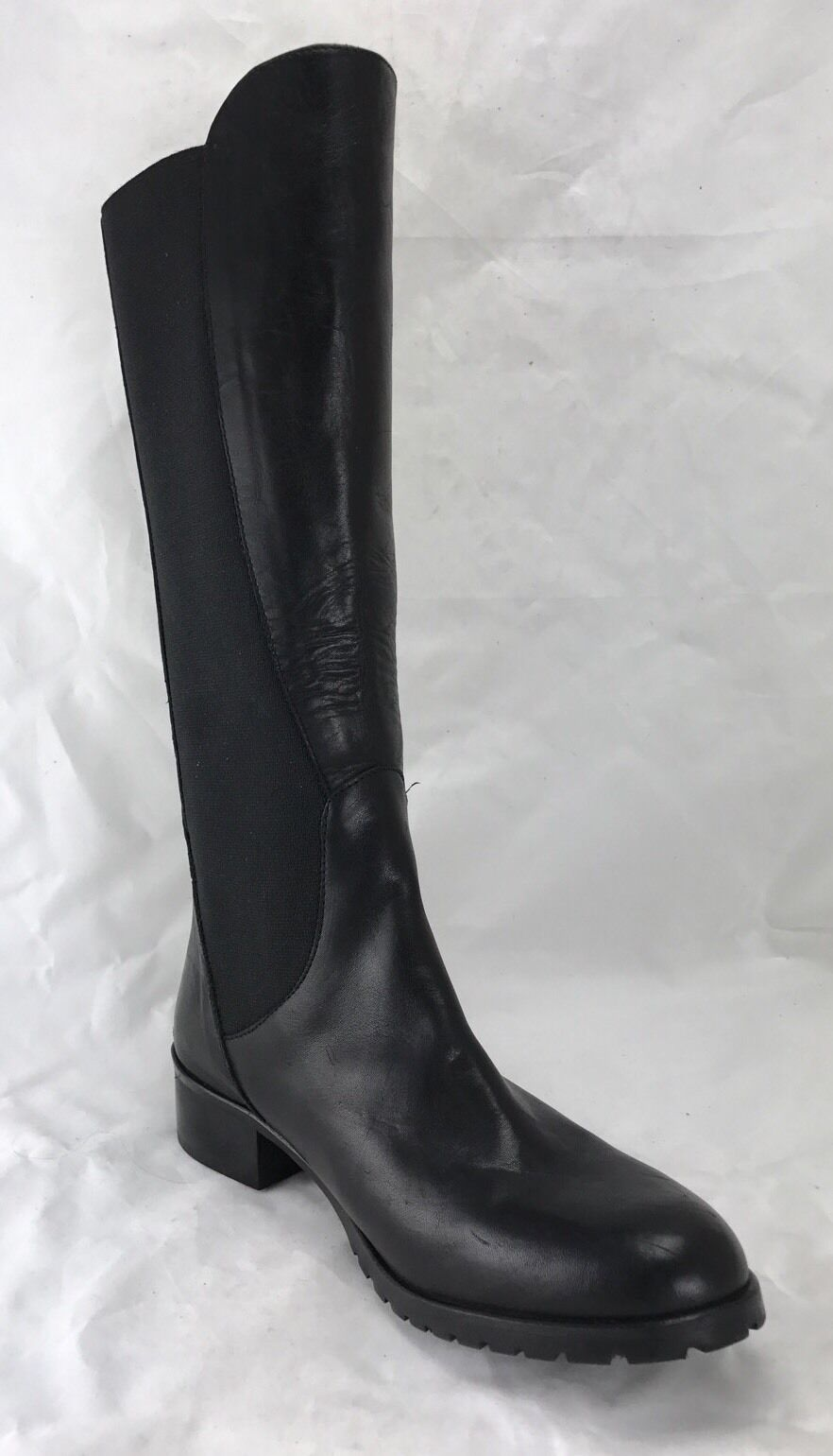 Charles David Women's Black Leather Tall Riding Boots Size 9.5 s10/24