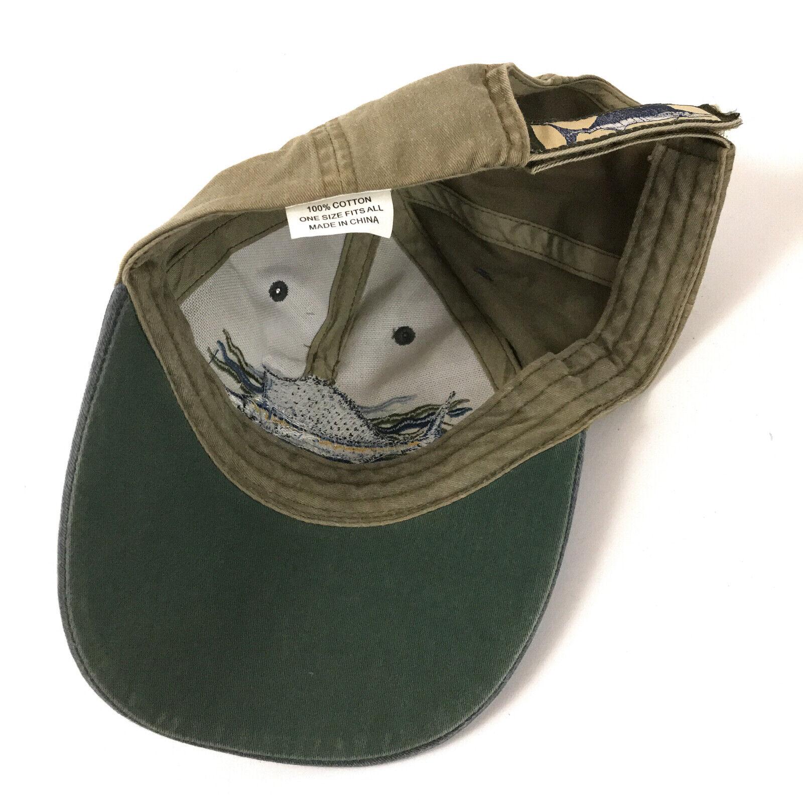SAILFISH Baseball Cap BEIGE Sail Fish Fishing Hat Adjustable Embroidered AE8