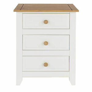 Super Details About Capri White Pine Bedroom Furniture 3 Drawer Bedside Cabinet Download Free Architecture Designs Ferenbritishbridgeorg