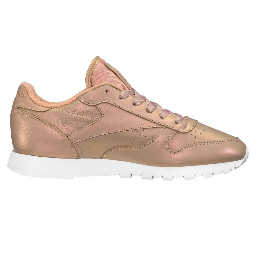 Womens REEBOK CL LTHR PEARLIZED Trainers BD4308