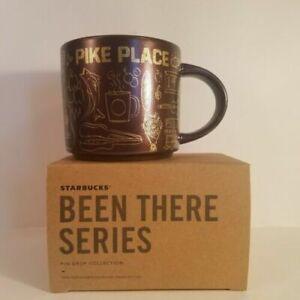 RARE Starbucks Brown Gold Pike Place Holiday Xmas 2020 Been There Mug Original