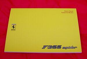Ferrari-355-Spider-RARE-Original-Owners-Handbook-Supplement-RHD-variants-1995