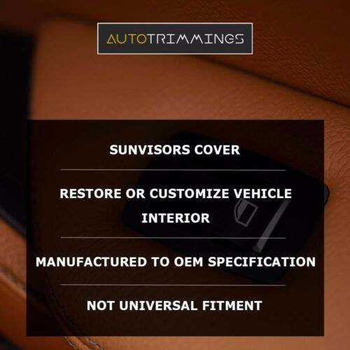 Sunvisor Leather Synthetic Covers for Camaro Firebird 93-02 Gray Stitch