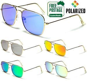 Air-Force-Polarised-Sunglasses-Square-Aviator-Frame-Polarized-Mirror-Lens