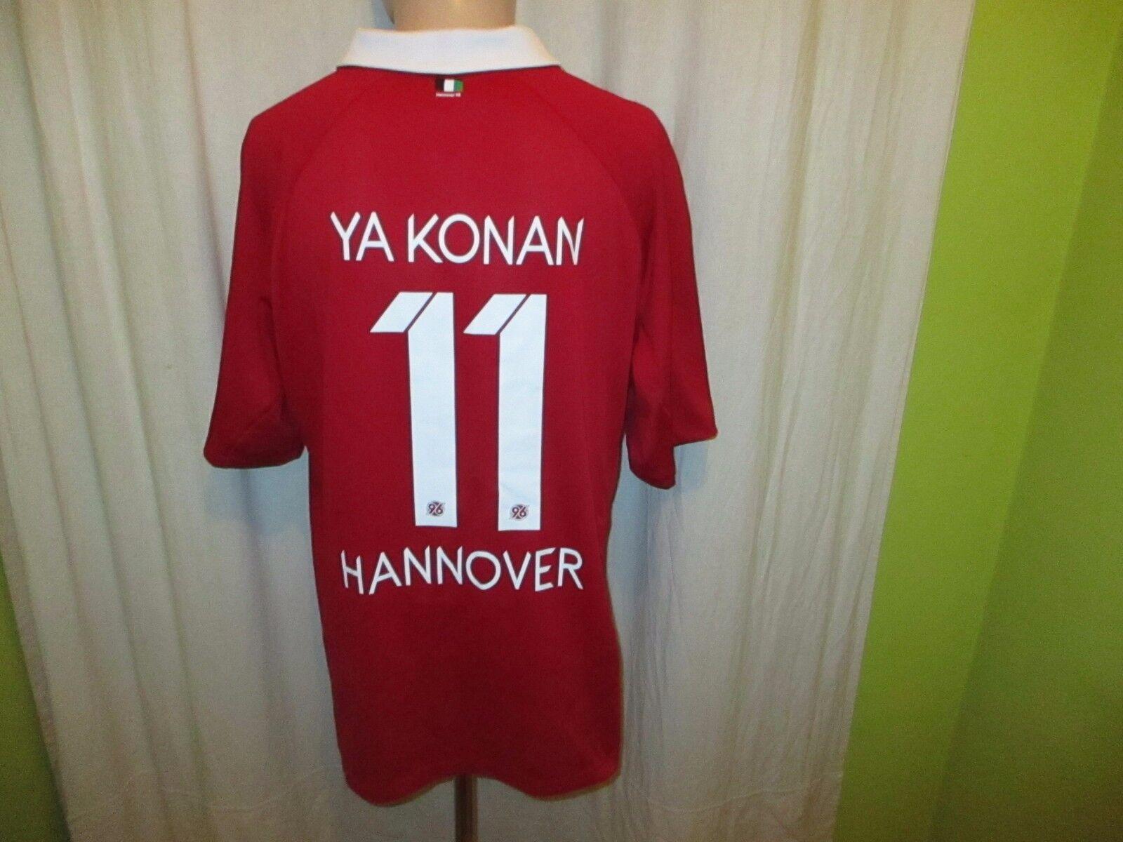 Hannover 96 Jako Home Jersey 2012 13  Tui  + No 11 Ya Konan Größe XXL-XXXL New