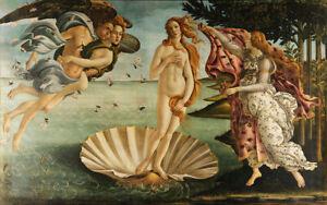 297 x 210mm Botticelli Birth of Venus Canvas Print A4 Size