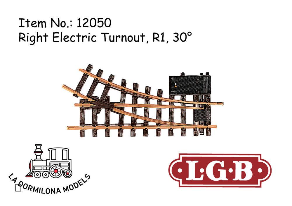 LGB 12050 Elektrische Weiche rechts, R1, 30° Right Electric Turnout   Spur G