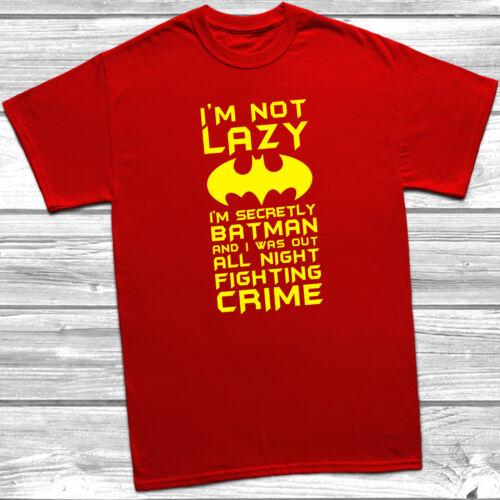 Je Ne Suis Pas Paresseux je suis secrètement Batman Drôle Enfants T-Shirt Cadeau Noël Anniversaire