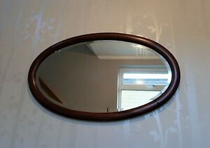 Vintage-Oval-Wall-Mirror-with-Inlaid-Oak-Frame