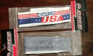 "CYCLING USA 2"" COOLMAX TEAM CYCLING HEADBAND + FREE PACE HEADBAND 2 TOTAL !!!"