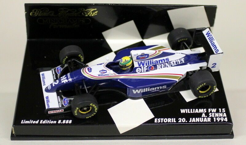 Minichamps  SCALA 430 941002 Williams FW 15 ESTORIL un SENNA diecast F1 AUTO