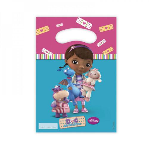 Chicos Chicas Cumpleaños De Disney Doc McStuffins temática Loot Bolsa Almuerzo Bolsas De Regalo
