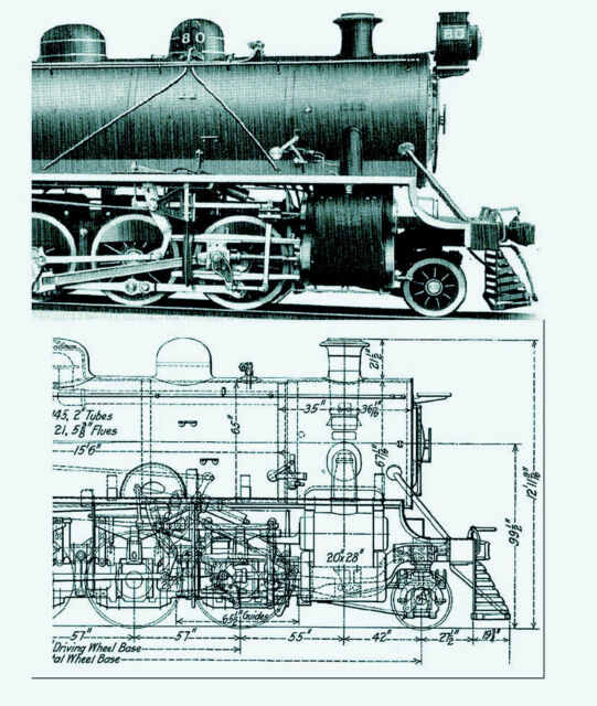 1915 American Locomotive Company catalog plans drawings