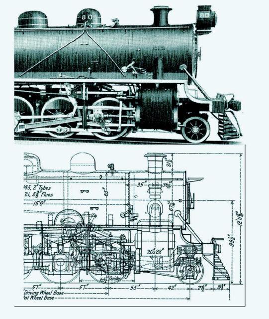 1915 American Locomotive Company catalog plans drawings