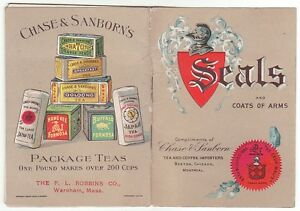 Booklet of seals and coats of arms compliments of Chase & Sanborn Tea and [5423