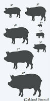 Primitive Pig Stencil With 8 Total--1-8 Farm Country Veterinary Pets