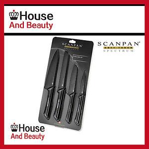 NEW-Scanpan-Spectrum-4-Piece-Knife-Set-Black-Grey-Cooks-Santoku-Knife-RRP-57