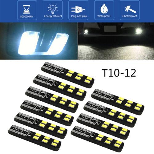 10x T10 3030 12SMD LED Birne 194 168 Side Wedge Standlicht Lampe Rücklicht Weiß