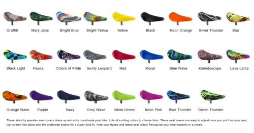 Lycra Spandex Bicycle Bike Seat Covers Bicycle Seat  Protectors Saddle Cover