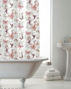 Image Is Loading Shower Curtains With Rings Erfly Bathroom Curtain Modern