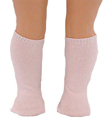 White Knee Socks With Pink Bows Fits 18 inch American Girl Dolls