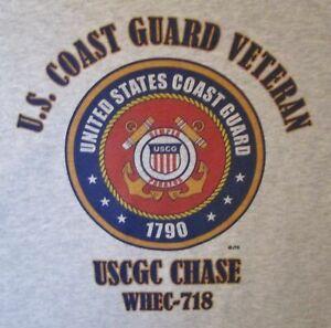 USCGC CHASE WHEC-718 COAST GUARD VETERAN  T-SHIRT/SWEATSHIRT/HOODIE