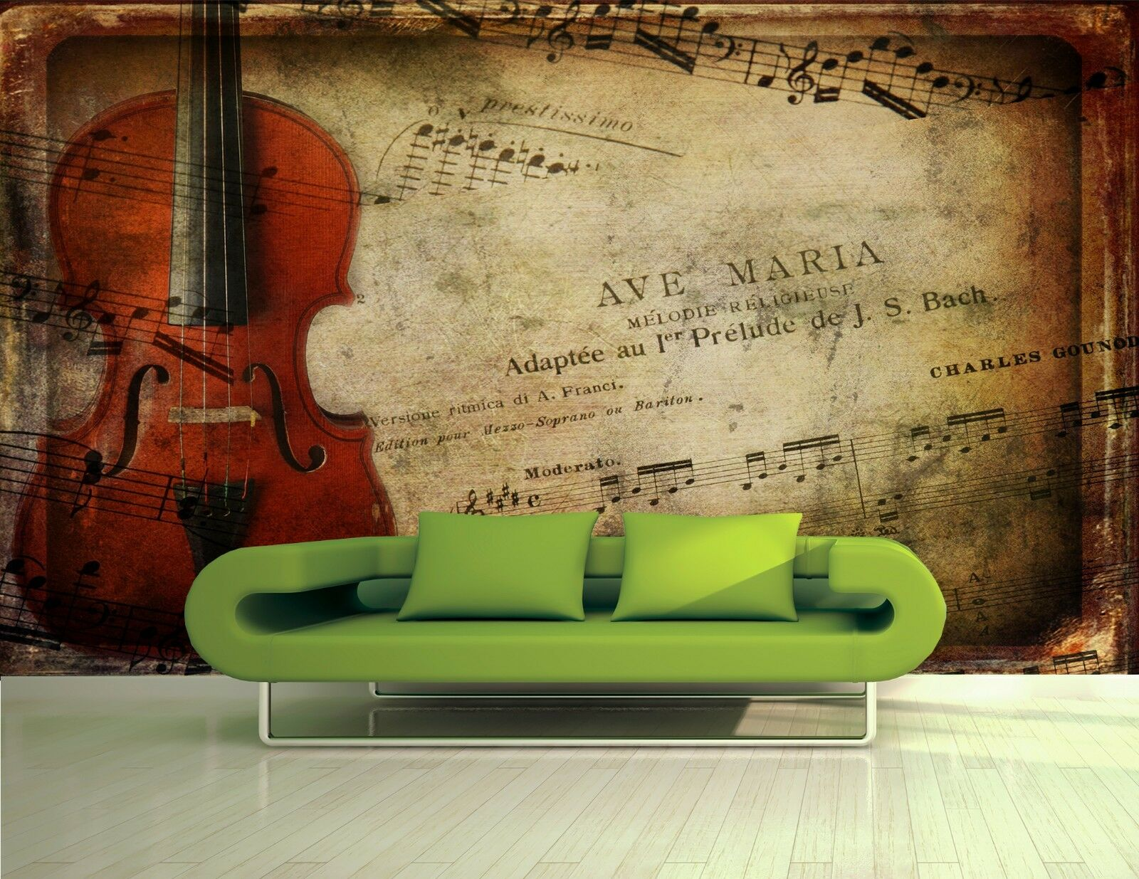 Musical Abstract Wall Mural Photo Wallpaper GIANT WALL DECOR Free Paste