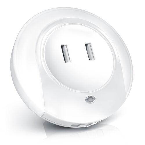 und Orientierungslicht mit USB Ladefunktion Bearware 2in1 LED Nacht Nachtlampe
