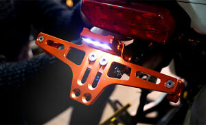 Adjustable-Motorcycle-License-Number-Plate-Frame-Holder-Mount-Bracket-LED-Light