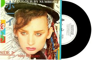 CULTURE-CLUB-MISS-ME-BLIND-COLOUR-BY-NUMBERS-RARE-PROMO-7-034-45-RECORD-PICSLV