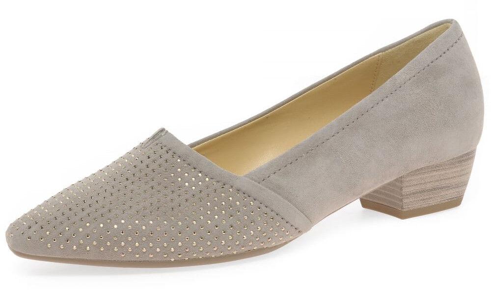 Damas Slip on Tacón Bajo Bajo Bajo Ante Tribunal Zapatos Gabor Azalea Beige tamaño de Reino Unido 7  mas barato