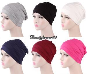 595407f620f Women Muslim Stretch Turban Hat Wrap Hijab Cap Chemo Cap Hair Loss Head  Scarf