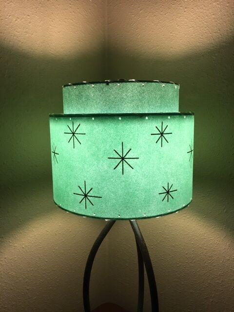 Mid Century Vintage Style 2 Tier Fibergl Lamp Shade Modern Atomic Retro A Sf