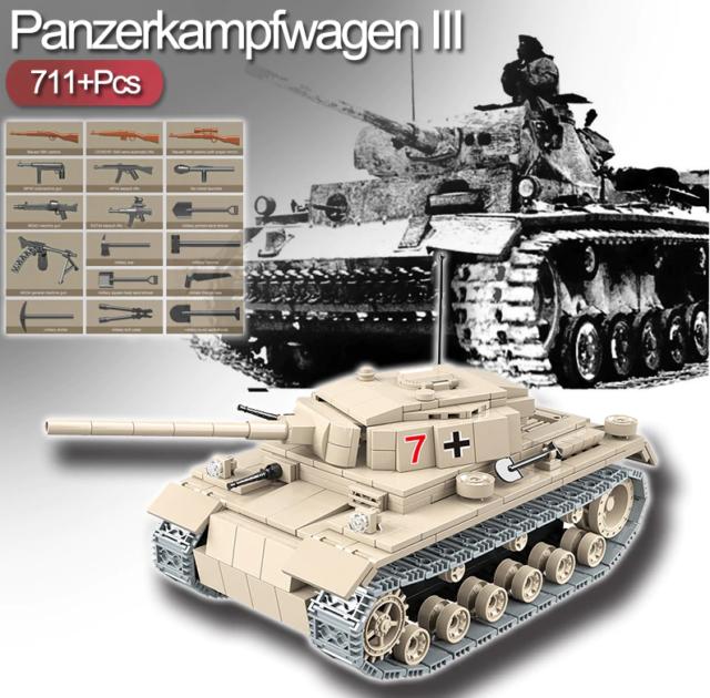 Cobi Lepin Panzerkampfwagen 3 711 Teile!!!