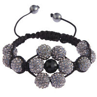 Women's Elegant Shamballa Bracelet Ladies Crystal Disco Ball Friendship Bead