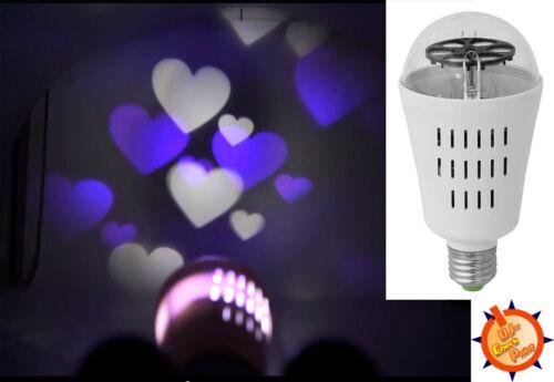 """Eurolite /""""gm-1/"""" e27 LED Effet Lampe Ampoule Lumière Effet thème amour LOVE nouveau!"""