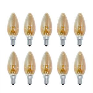 10-x-Sylvania-Vela-40W-E14-Oro-geluestert-Decoracion-Bombillas-Incandescentes