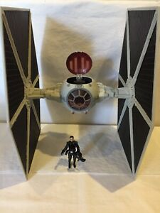 STAR-WARS-TIE-FIGHTER-VEICHLE-LEGACY-COLLECTION-2009-LFL-HASBRO-RARE-PILOT