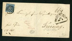 Bavaria-Cover-w-Stamp-11A-Very-Clean-Rare