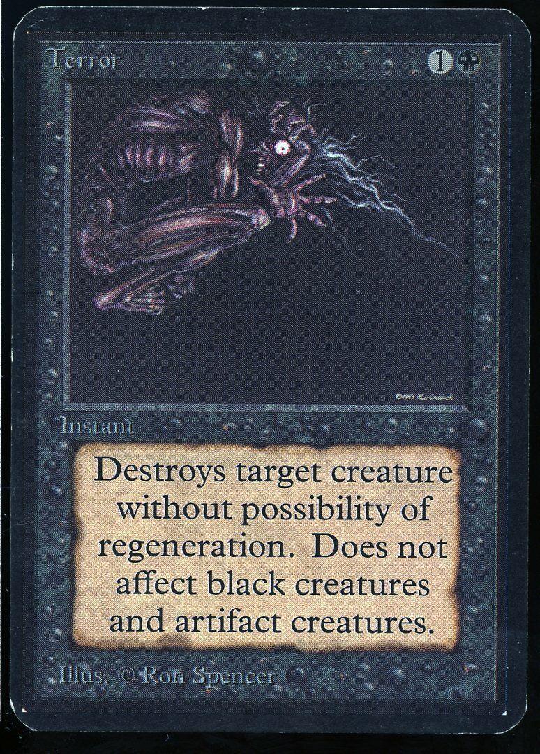 Terror ALPHA 1993 Magic the Gathering MTG