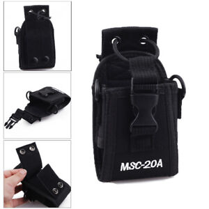 Walkie-Talkie-Radio-Case-Holster-Pouch-For-Motorola-Kenwood-Baofeng-ICOM-YAESU