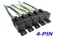 10 Pcs - 12v Bosch Style SPST 40 Amp Relays & Sockets 4-pin Single Pole