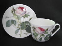 Redoute Rose Breakfast Cup Saucer, Made In England By Roy Kirkham, Fine Bone