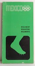 1968 Mexico City Summer Olympics Rule Book Detailing Olympic Games Regulations
