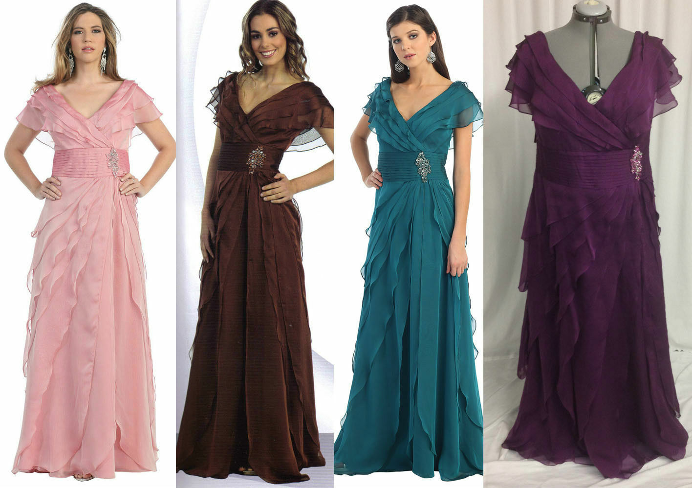 Eggplant Mother of Bride/Groom Dress Party Prom Evening Cocktail 4XL Fit 18