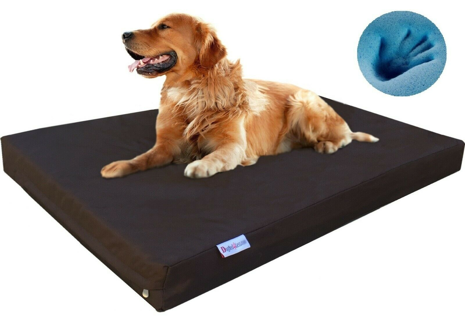 Waterproof XL Large Orthopedic MEMORY FOAM Pet Dog Bed 47 X29 X4  48 X30  Crate