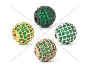 1-PCE-Green-CZ-Micro-Pave-Round-Beads-Cubic-Zirconia-Ball-Bead-6-12mm